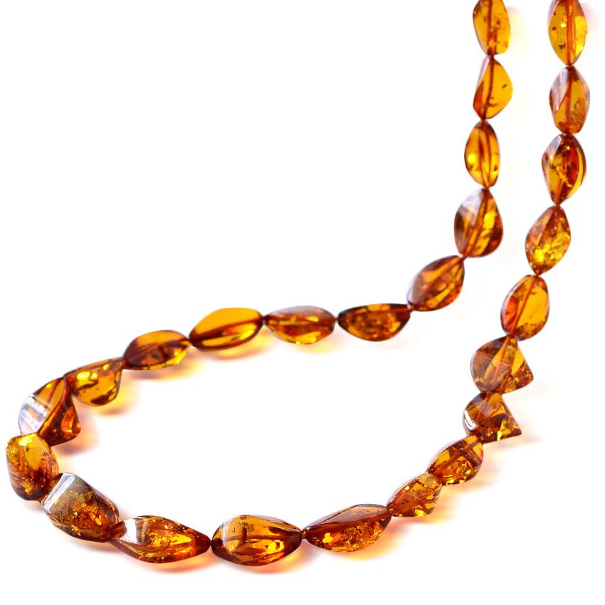 琥珀ネックレス、琥珀 ネックレス、天然石の最高峰バルティックアンバーアクセサリー、琥珀大粒ネックレス、コニャックアンバー